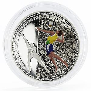 Samoa 5 dollars From Sochi to Rio series Volleyballer colored silver coin 2014