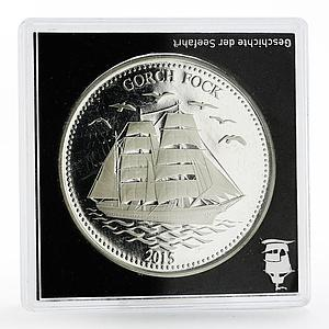Samoa 2 dollars History in Ships series Gorch Fock proof silver coin 2015