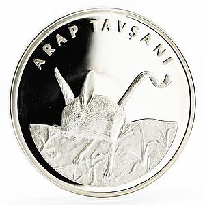 Turkey 20 lira Animal series Five-Toed Jerboa proof silver coin 2005