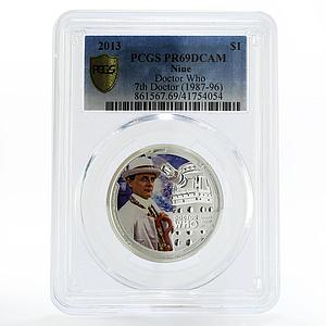Niue 1 dollar Sylvestor McCoy the 7th Doctor Who PR69 PCGS silver coin 2013