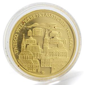 Germany 100 euro UNESCO World Heritage Sites City Weimar gold coin 2006