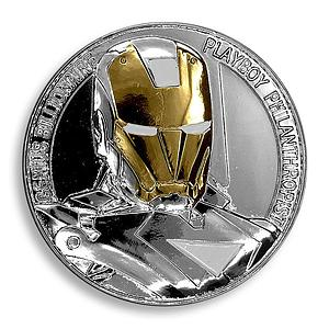 Iron Man, Genius Billionaire, Playboy Philanthropist, Silver Plated, Token