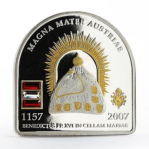 Cook Islands 5 dollar Faith series Pope Visit in Mariazell silver coin 2007