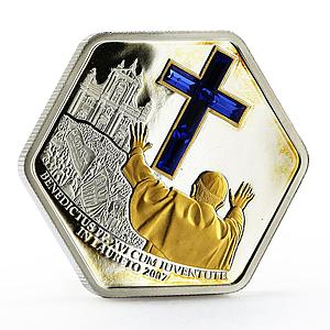 Cook Islands 5 dollars Pope Visit in Loreto Cathedral silver coin 2007