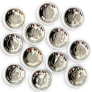 Falkland Islands set of 12 coins Golden Jubilee of the Queen nickel coins 2002