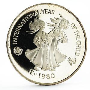 United Arab Emirates 50 dirhams International Year of the Child silver coin 1980