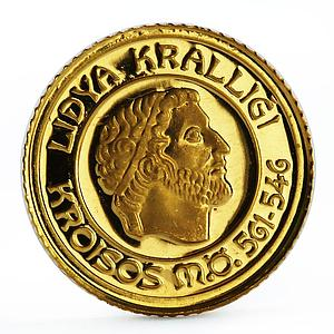 Turkey 1000000 lira Lydian Empire series King Coesus gold coin 1997
