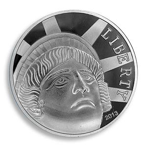 Liberty Coin, German Silver Plated, USA, 1 oz, 2013, Token, Souvenir