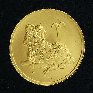Russia 25 rubles Zodiac Aries gold coin 2003