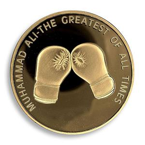 Muhammed Ali, The Greatest Of All Times, Champ, Boxer, Legend, Gold Plated Coin