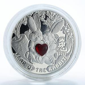 Niue 1 dollar Year of the Rabbit Romeo and Juliet Famous Love Stories coin 2010