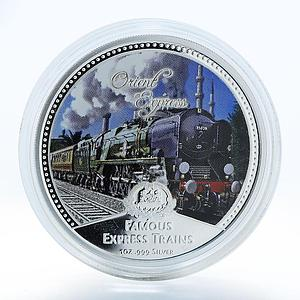 Niue 2 dollars Famous Express Train Orient Express silver proof 2010