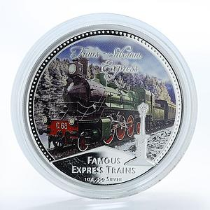 Niue 2 dollars Famous Express Train Trans-Siberian Express silver proof 2010