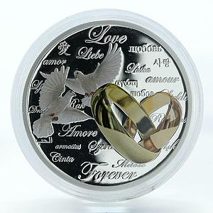 Niue 2 dollars Love forever proof silver coin 2011