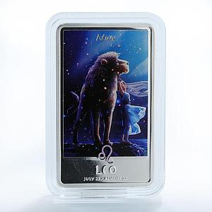 Niue 2 dollars Sings of the Zodiac Leo silver color 1 oz coin 2011