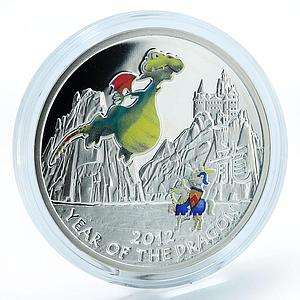 Niue Year of the Dragon Kids style in blister sіlver color coin 2012