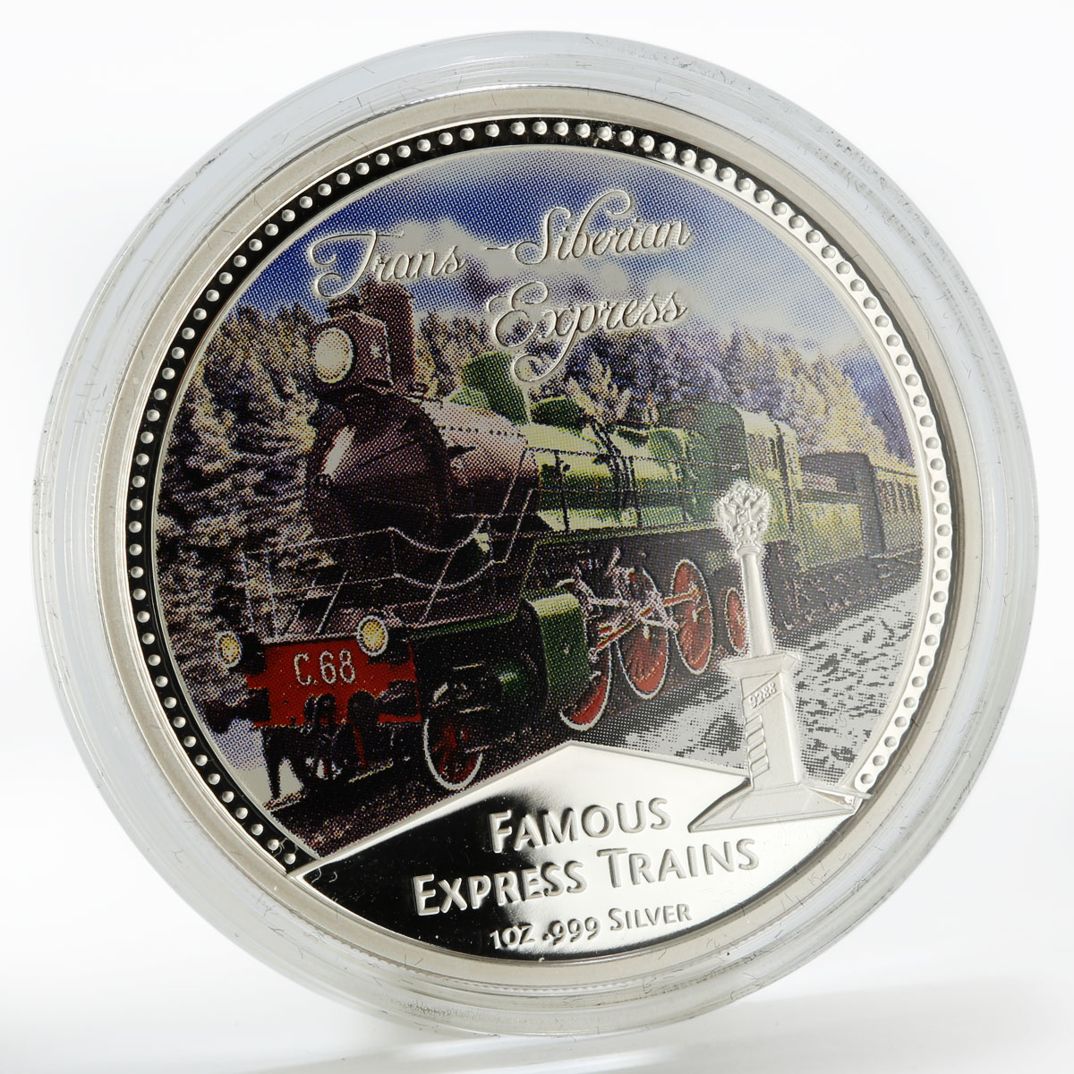 Niue set 4 coins Famous Express Trains proof colored silver 2010