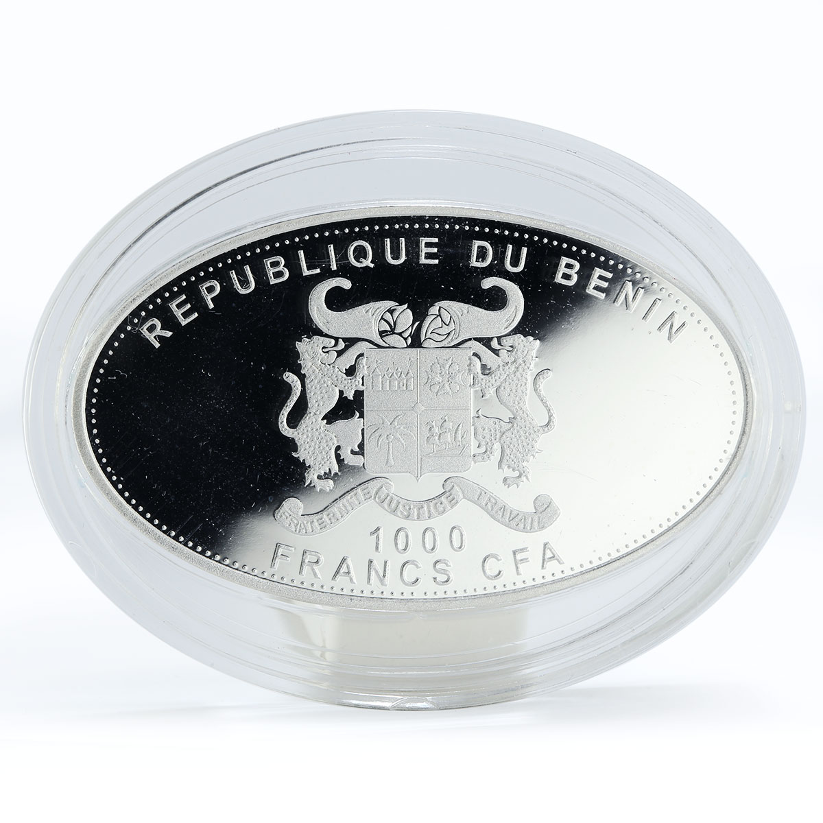 Benin 1000 francs Year of the Snake colored proof silver coin 2013