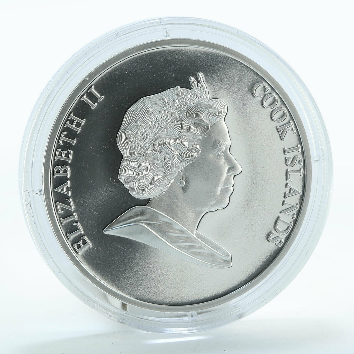 Cook Islands $10 New Year Merry Christmas Silver Coloured Аnimation Coin 2008