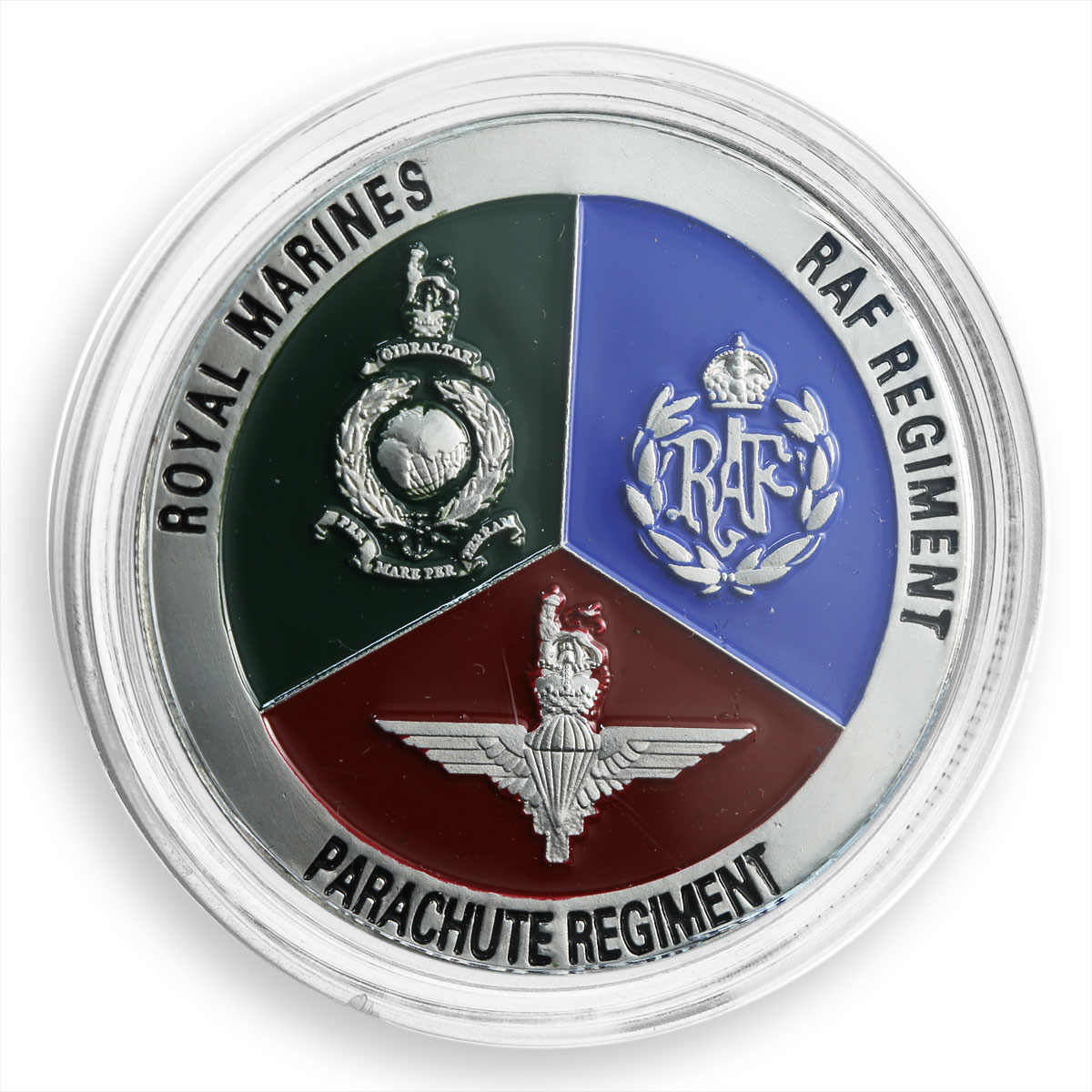 British riot, Royal Navy, Marines, support group, sword, token
