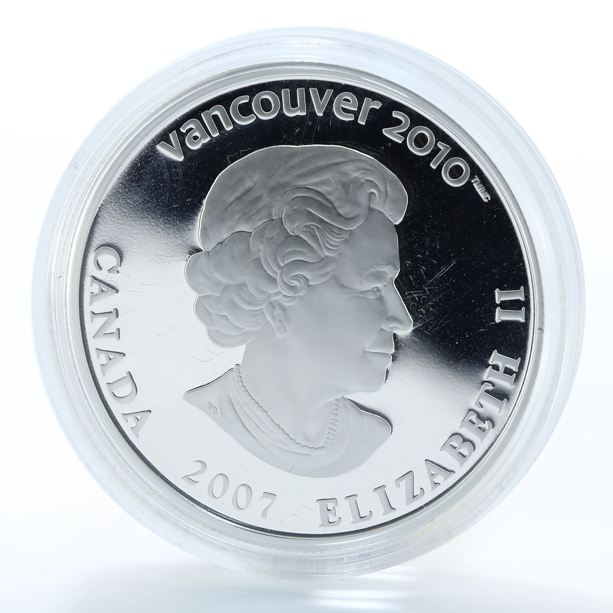 Canada 25 dollars Biathlon 2010 Winter Olympics Vancouve silver proof 2007