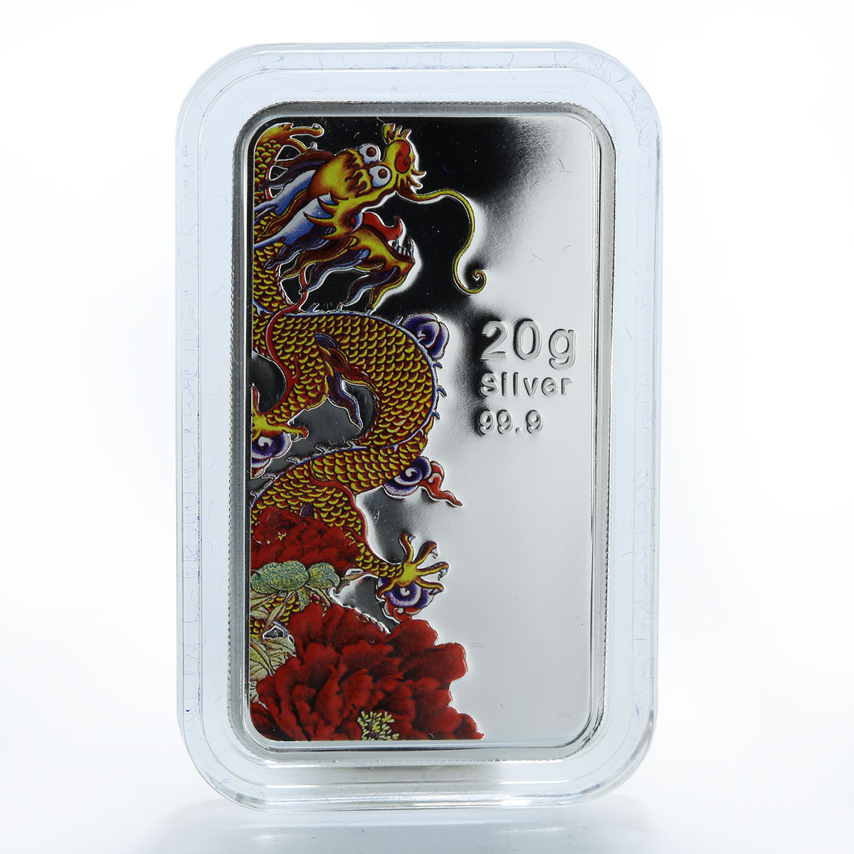 Cook Islands $1 Year of the Dragon 2012 Peony Dragon, 20 g Silver Coin Lunar