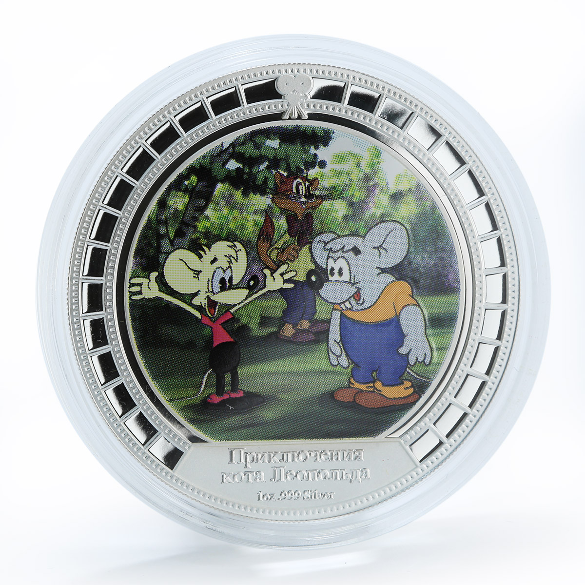 Cook Islands $2 Soyuzmultfilm Nutcracker Thumbelina Leopold set of 4 coins 2008