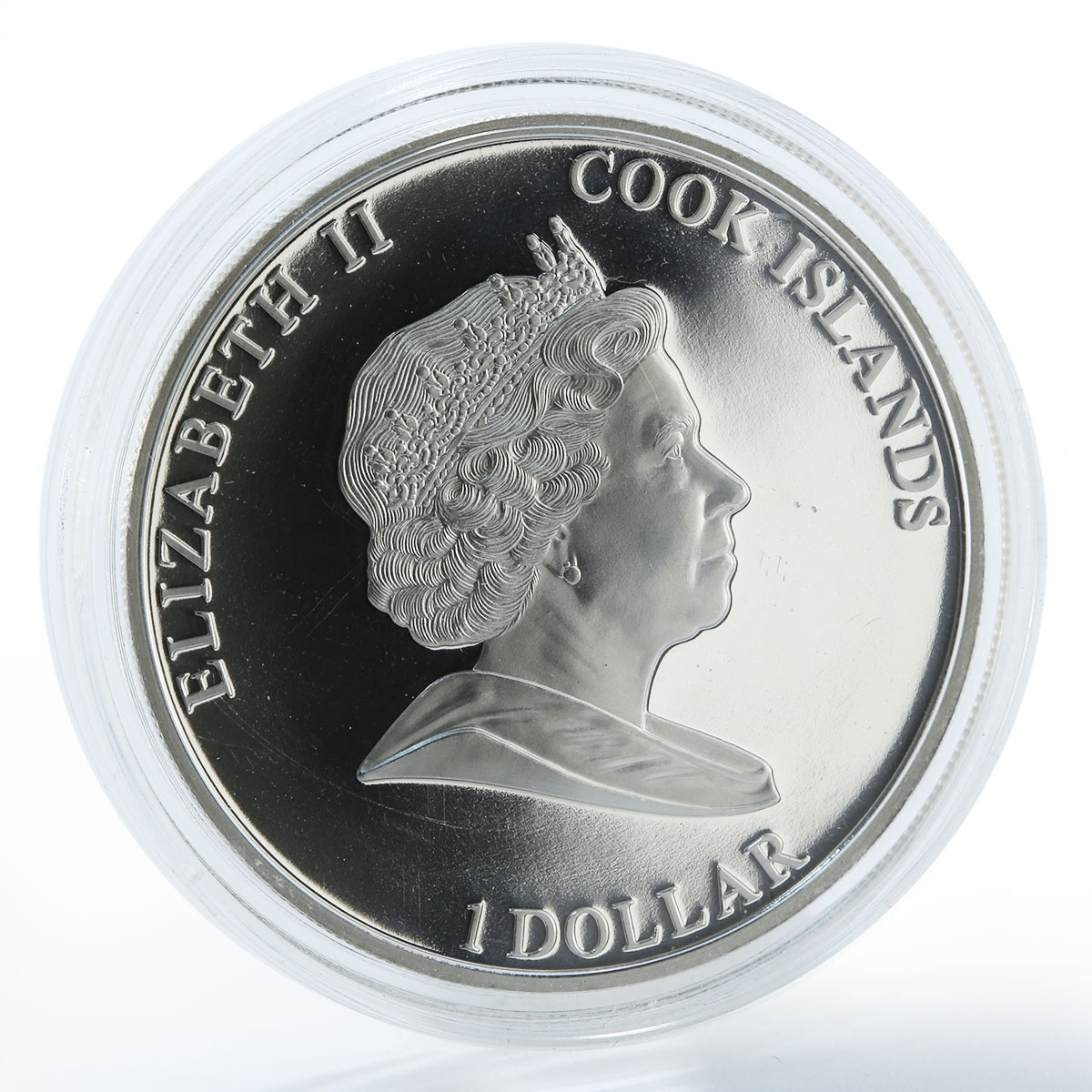 Cook Islands 1 dollar HMB Endeavour James Cook 1728-1779 silver Proof coin 2009