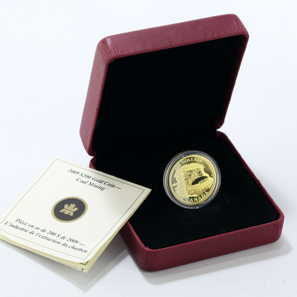 Canada 200 dollars Coal Industry Collier Coalmine gold coin 2009 Box and CoA