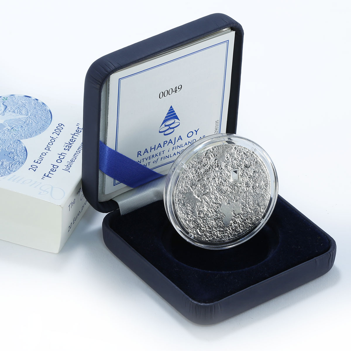 Finland Suomi 20 Euro Peace & Security, Birds 2009 Silver Proof Coin