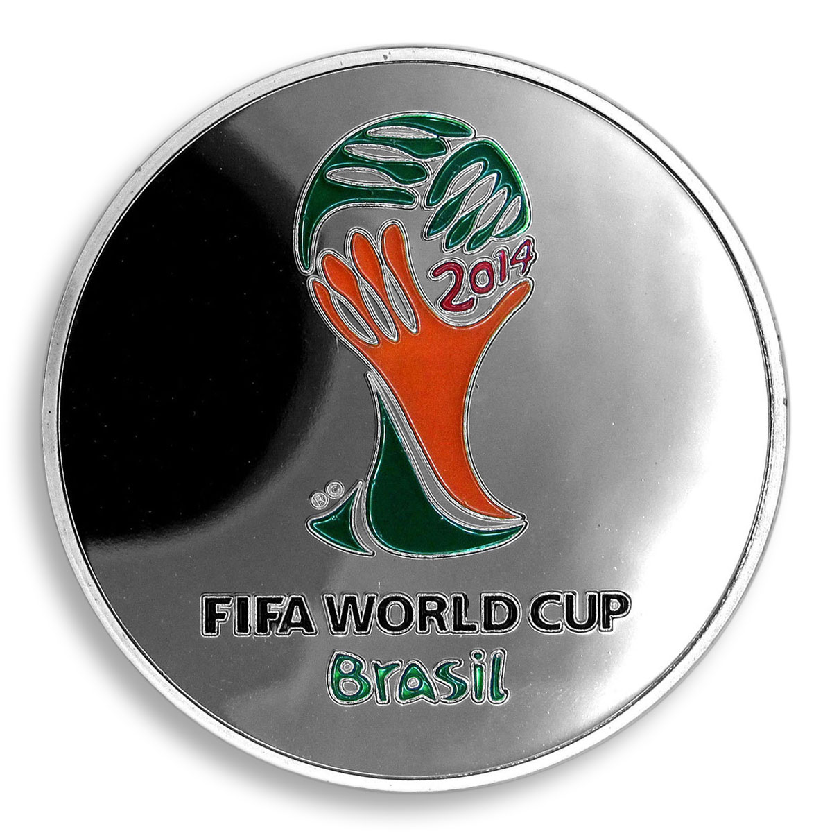 Lionel Messi, Football World Cup 2014, Argentina, FIFA, Silver Plated, Token