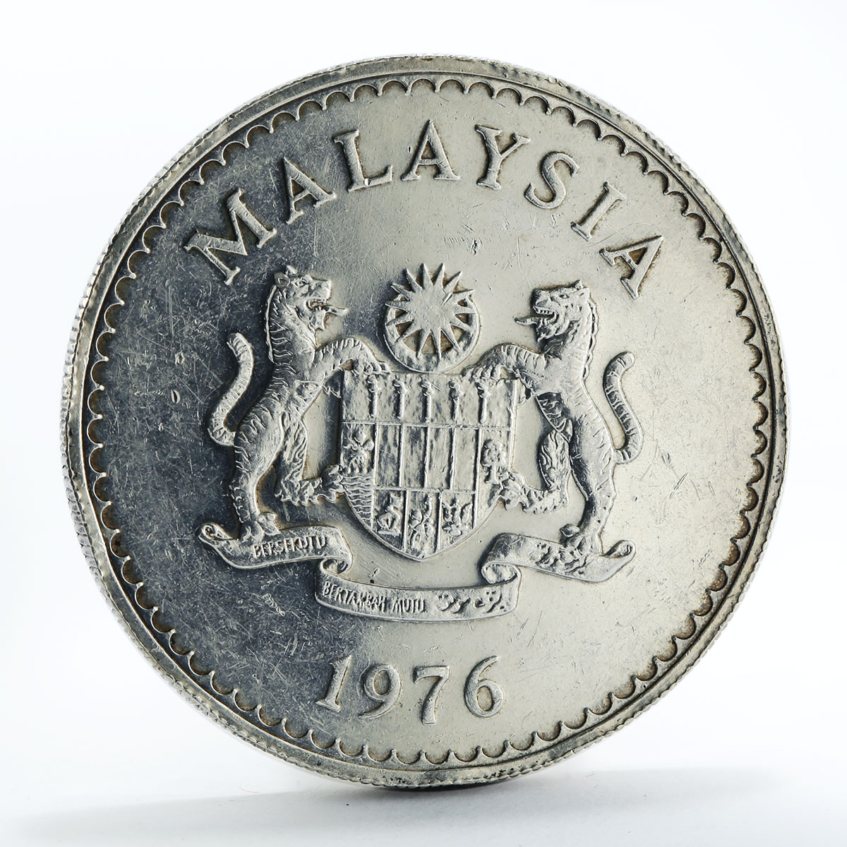 Malaysia 25 ringgit Conservation Hornbill silver coin 1976