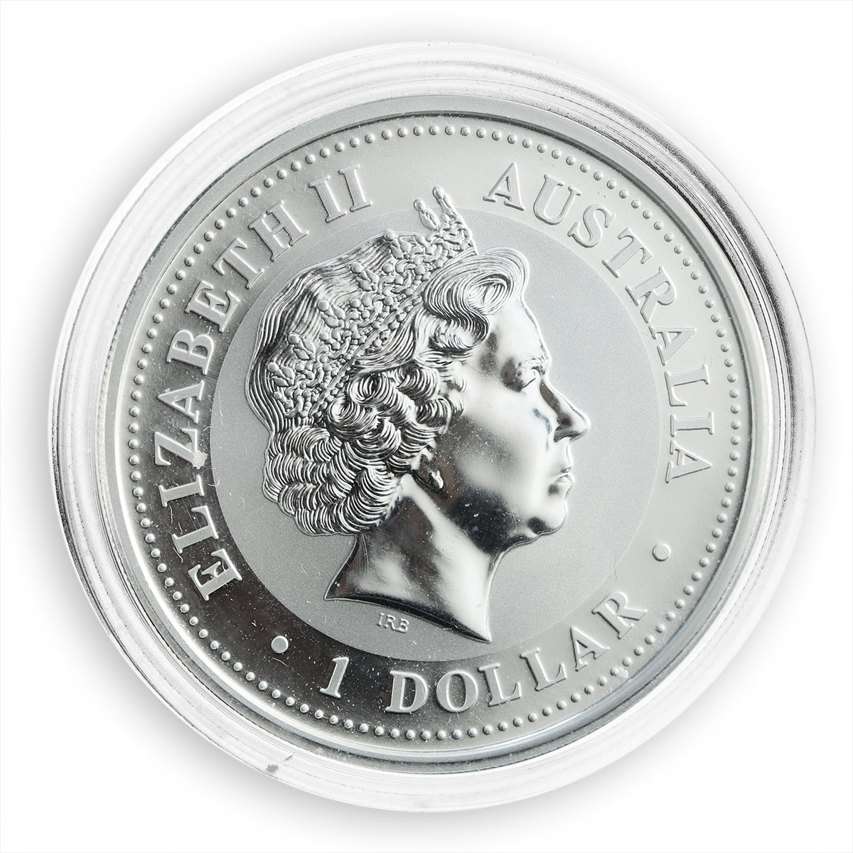 Australia $1 Year of the Rooster Lunar Colorized silver coin 1 oz 2005
