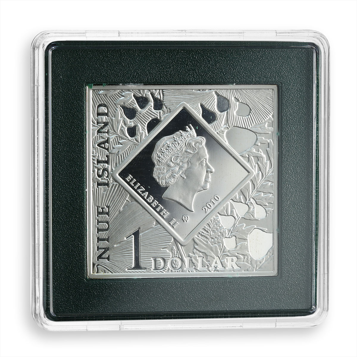 Niue 1 dollar Series: Oddities of Nature Pronghorn silver rectangular coin 2010