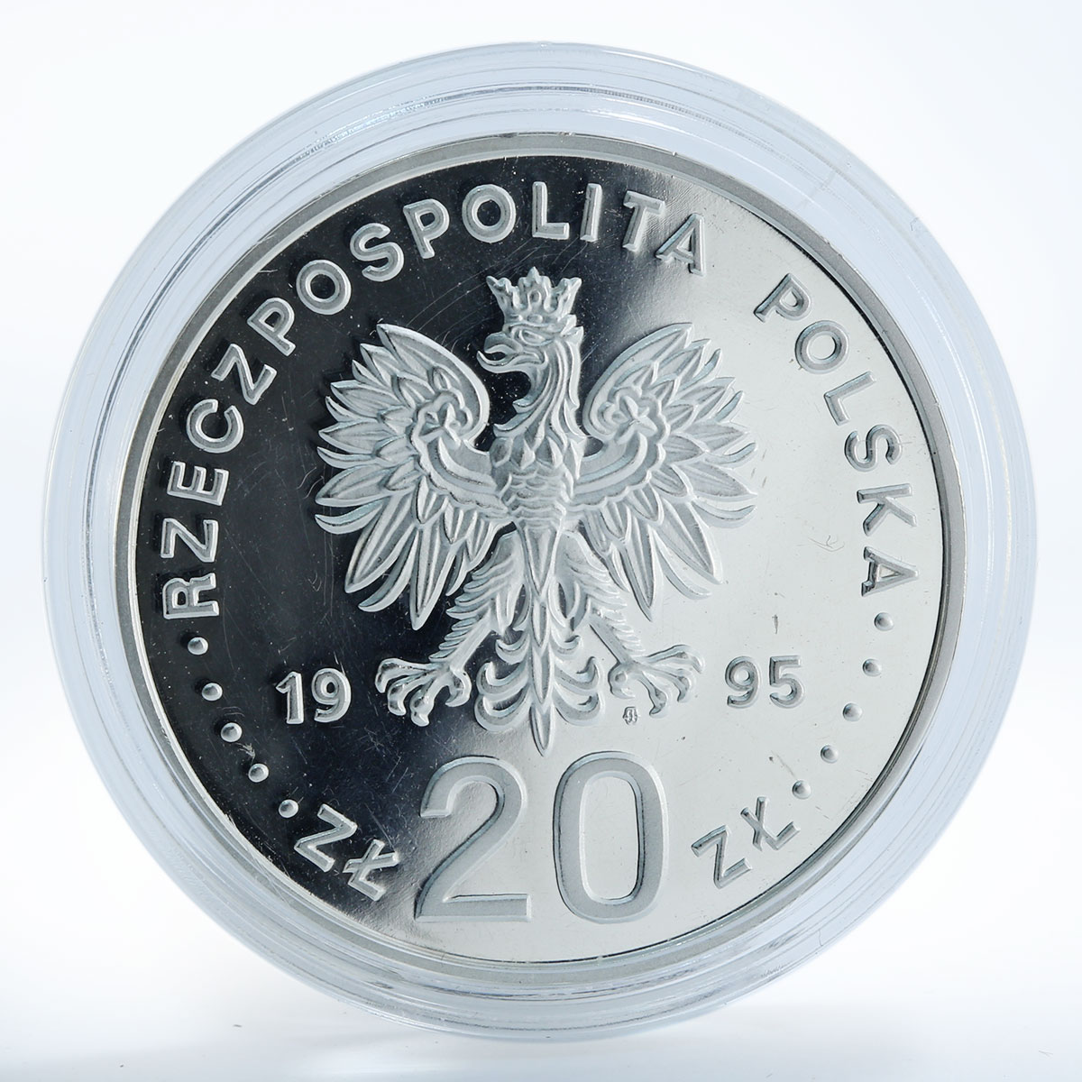 Poland 20 PLN 500 years of Plock silver coin 1995