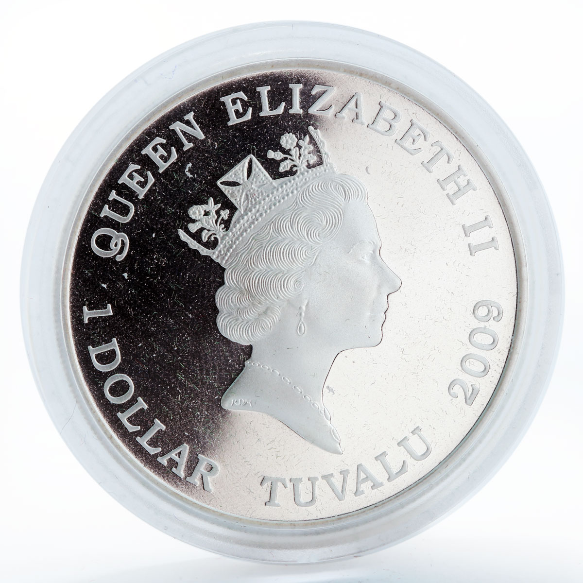 Tuvalu 1 dollar 50th Anniversary of Barbie silver coin 2009
