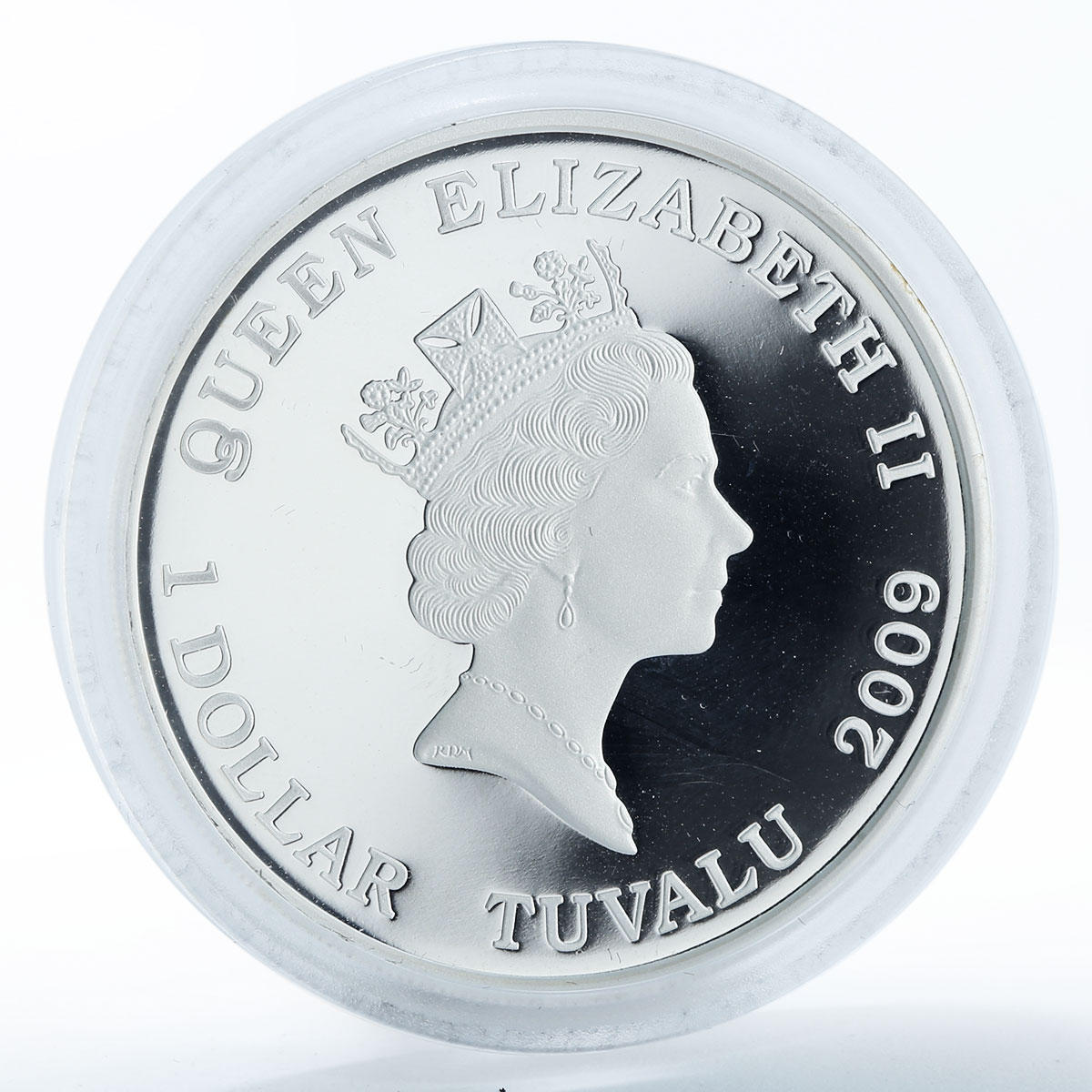 Tuvalu, 1 dollar Battle of Balaklava 1854 , silver coloured proof coin 2009