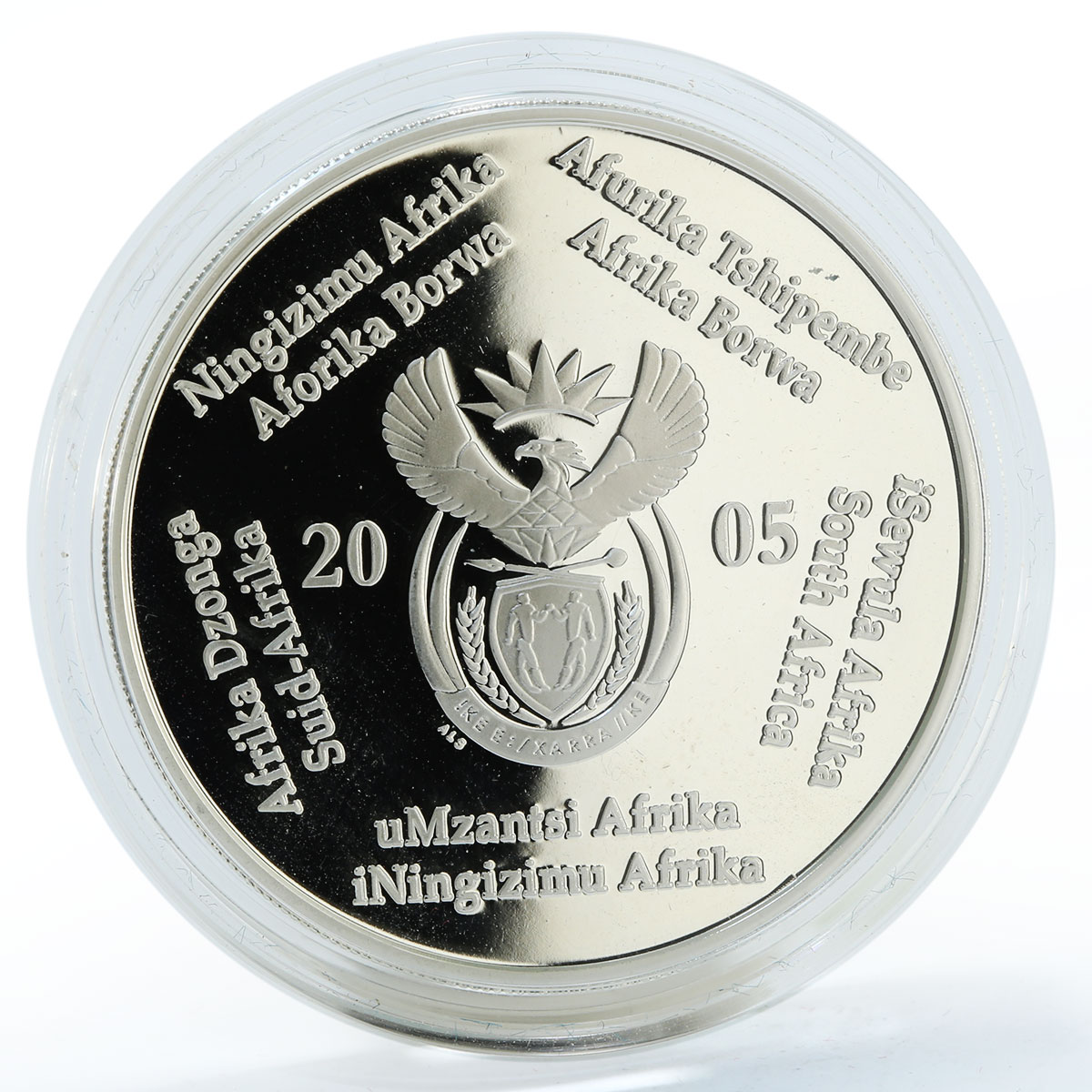 South Africa set 2 coins Birds Series The African Vultures proof silver 2005
