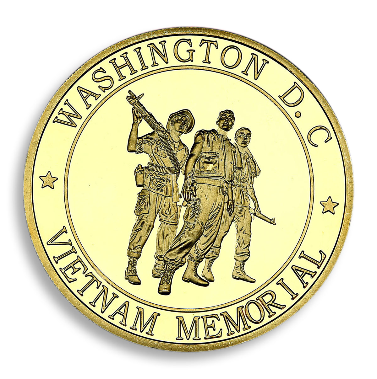 United States Marine Corps Washington DC Vietnam Memorial Gold-Plated Medal