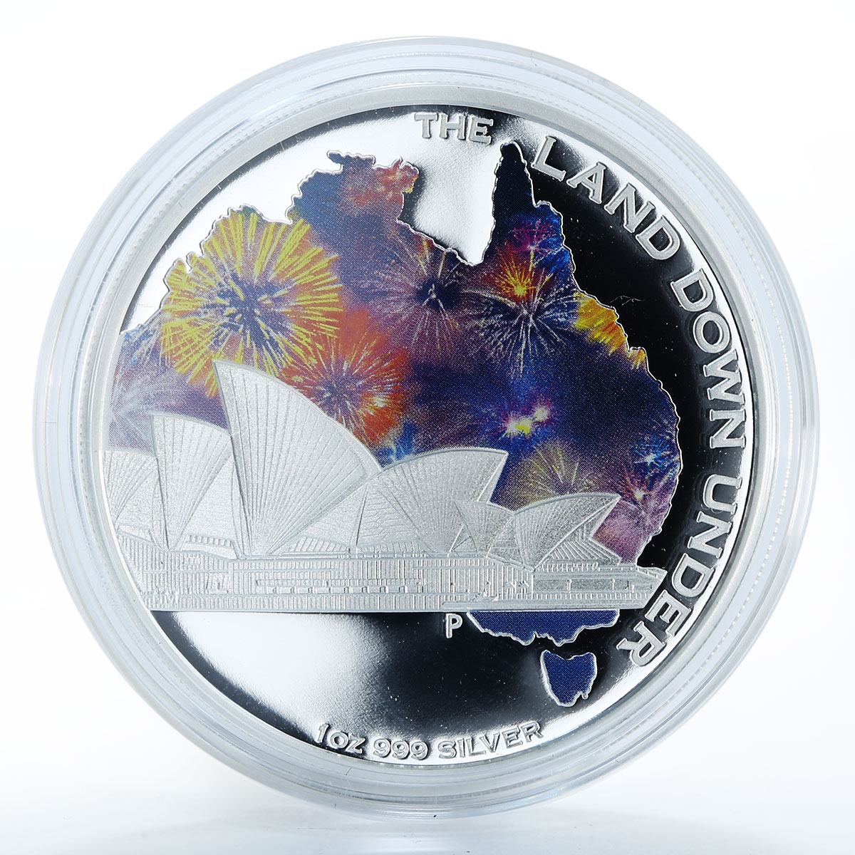 Australia 1 dollar Syndey Opera House art symphony silver coin 2013