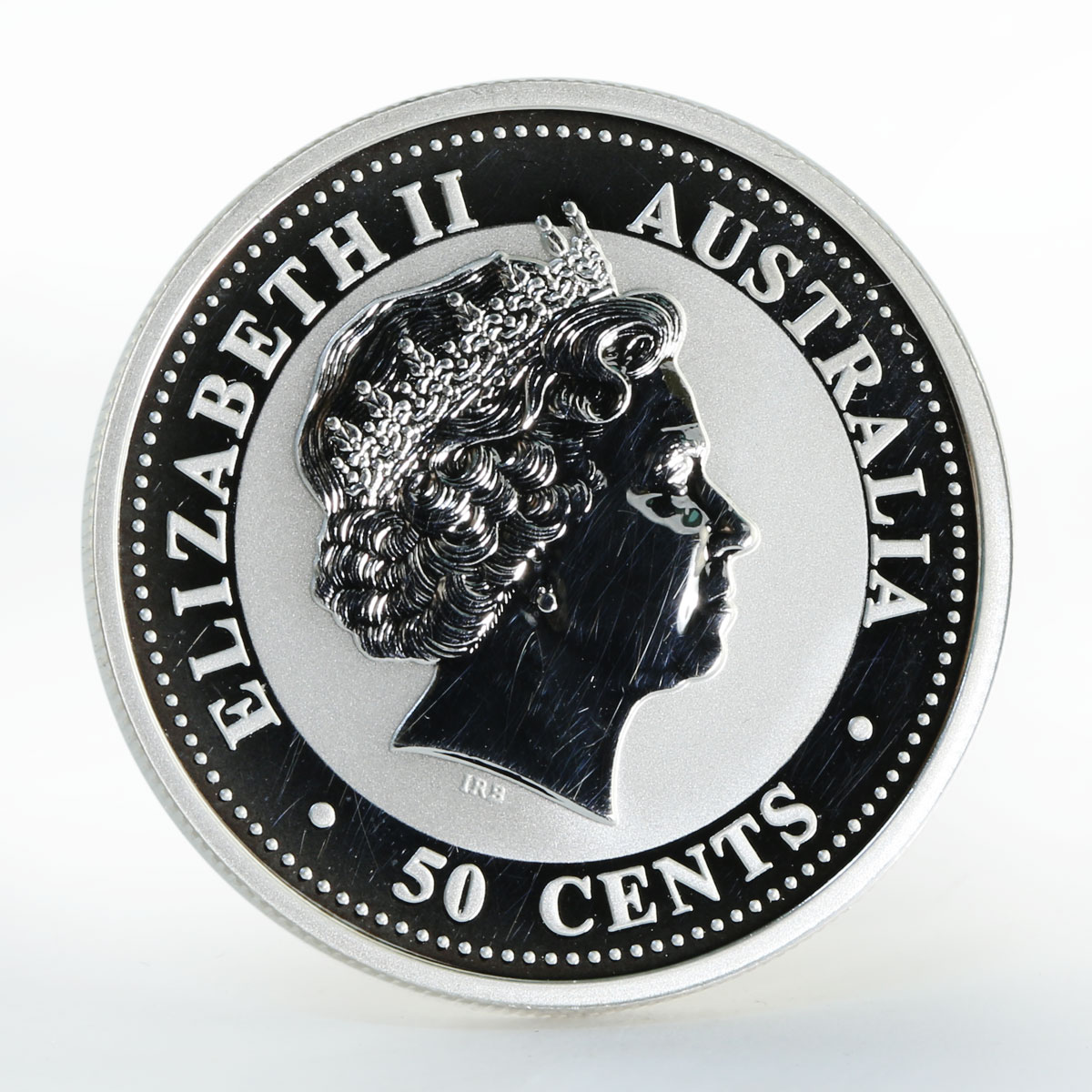 Australia 50 Cents Year of the Goat Lunar Series I 1/2 Oz Silver coin 2003