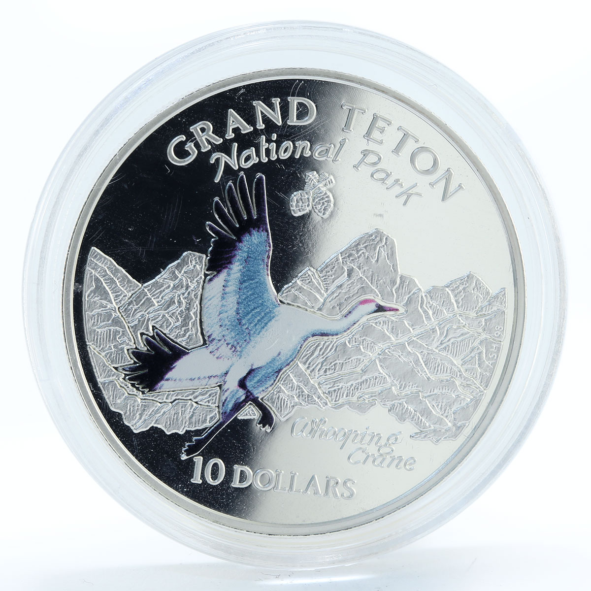 Cook Islands 10 dollars National Park Grand Teton silver coin 1998