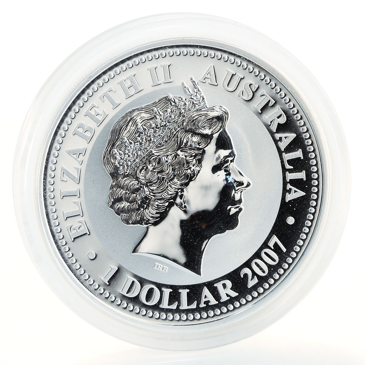 Australia, 1 Dollar, Year of the Tiger 2010, Series I, Gilded, 1 Oz Silver 2007