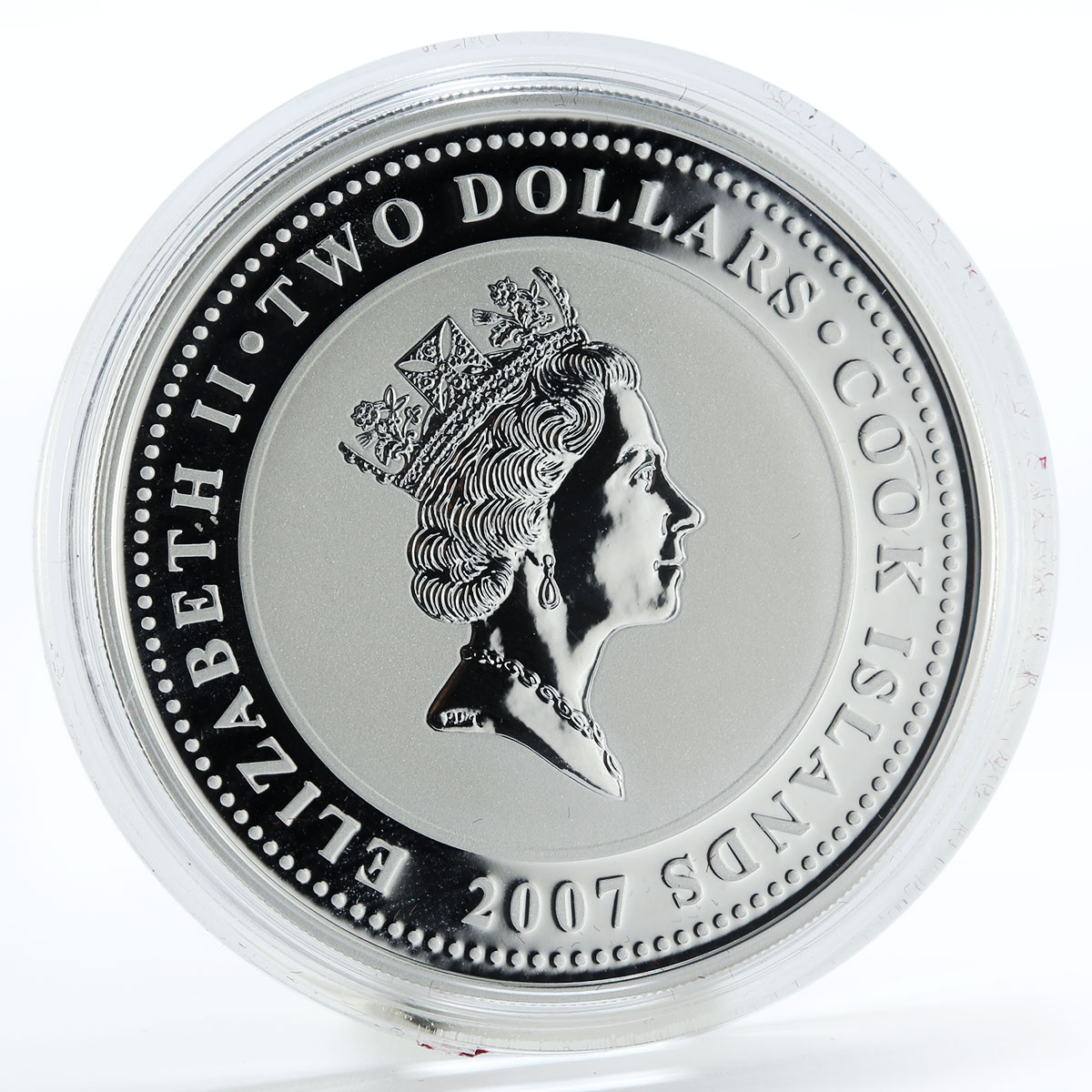 Cook Islands 2 dollars Sherlock Holmes The Sign of Four silver coin 2007