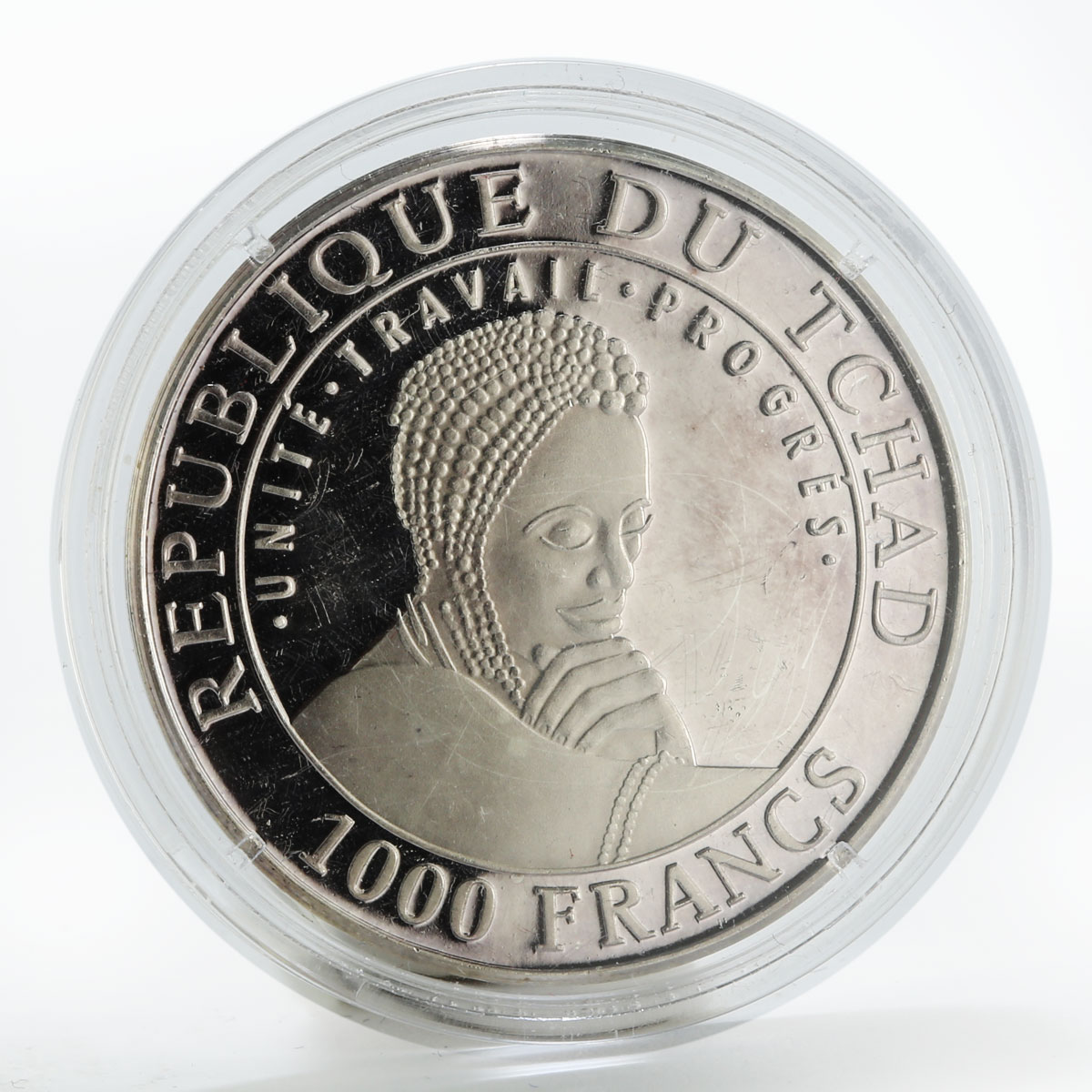 Chad 1000 francs Fortten Cultures - Jericho proof silver coin 1999
