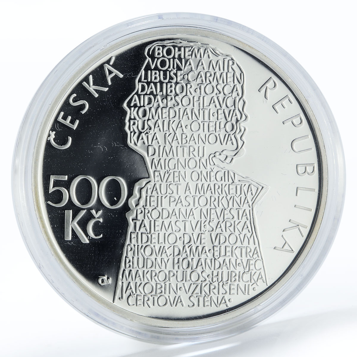 Czech Republic 500 korun 100th Anniversary birth Beno Blachut silver coin 2013