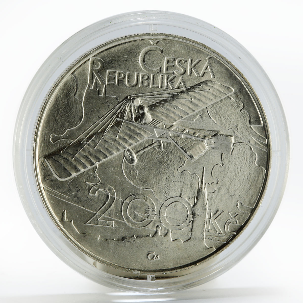 Czech Republic 200 korun First Long-distance Flight Jan Kaspar silver coin 2011