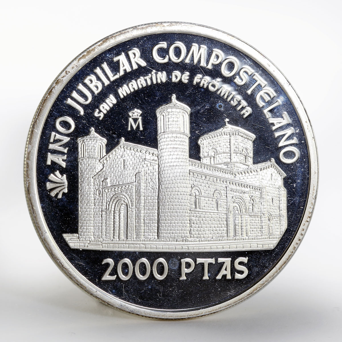 Spain 2000 pesetas Holy Year of St. James church silver coin 1999