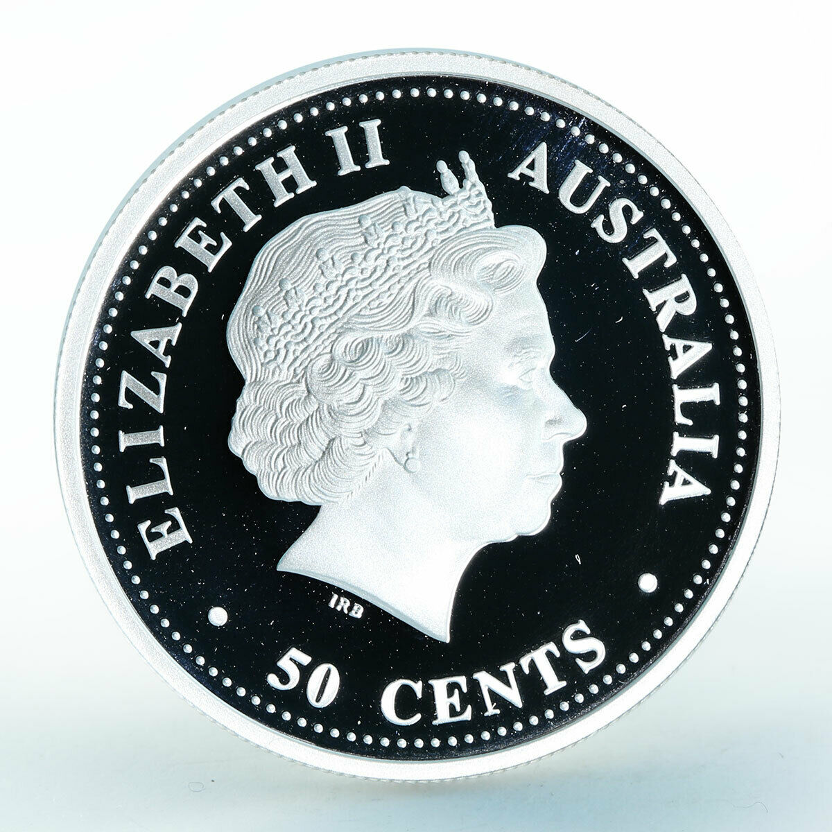 Australia 50 cents Year of the Horse Lunar Series I silver proof coin 1/2 oz 2002