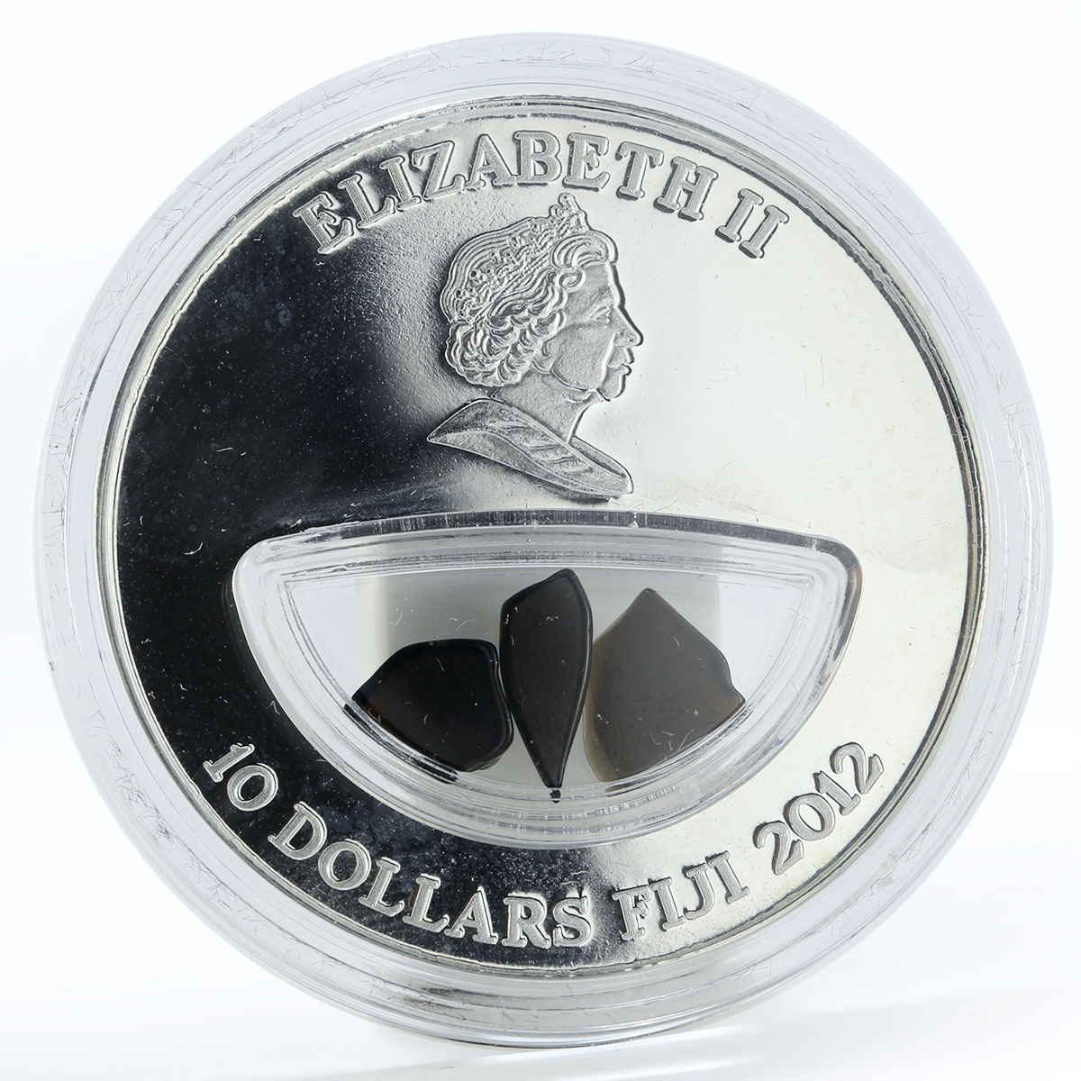 Fiji 10 dollars Meteorites Abee Canada 1952 colored proof silver coin 2012